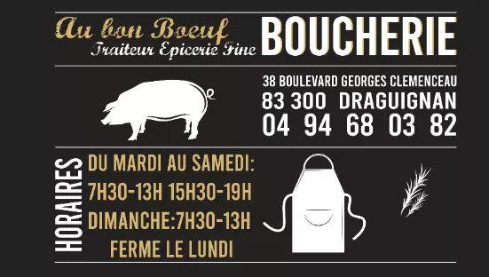 Dracénie Provence Verdon Agglomération - BOUCHERIE AU BON BOEUF